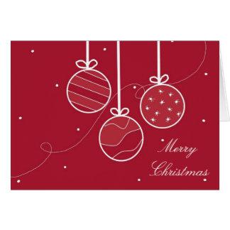 Decoraciones festivas del día de fiesta tarjeta