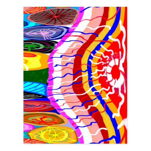 Decoraciones festivas orientales tarjeta postal
