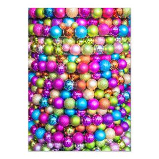 Decoraciones multicoloras de la bola de cristal invitación 12,7 x 17,8 cm