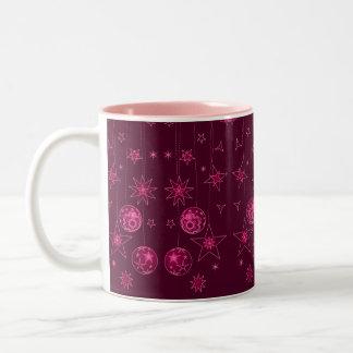 Decoraciones rosadas elegantes de lujo del navidad taza