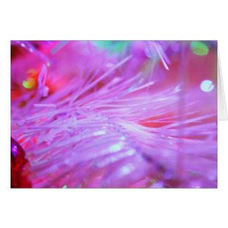 Decoraciones rosadas tarjetas
