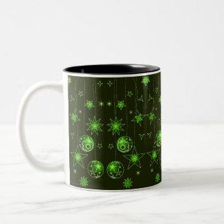 Decoraciones verdes del navidad de la burbuja del  tazas
