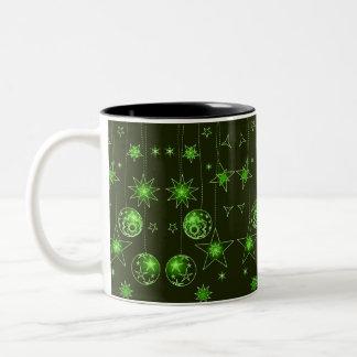 Decoraciones verdes elegantes de lujo del navidad tazas