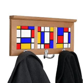 Decorado de estilo Mondrian Colgador Para Abrigos