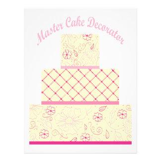 decorador principal de la torta tarjetas informativas