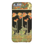 Décoratifs del arte (flores anaranjadas) por funda de iPhone 6 barely there