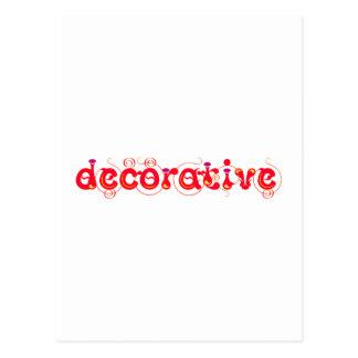 decorative tarjeta postal