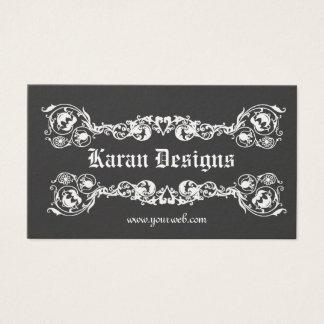 Decorativo adornado moderno de lujo elegante real tarjeta de negocios