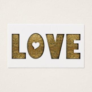 Decorativo de oro elegante de la palabra del texto tarjeta de negocios