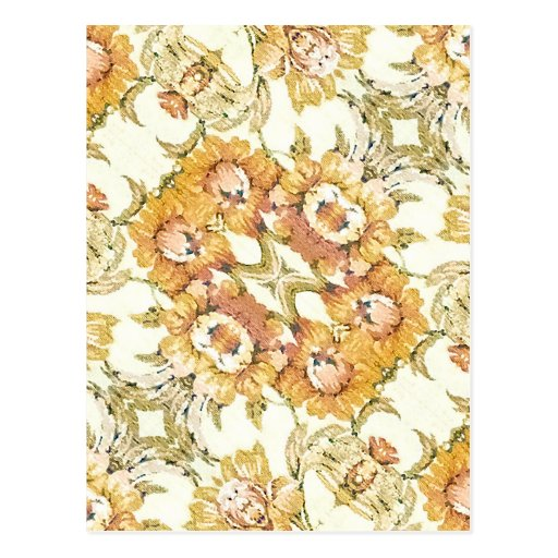 Decorativo floral postal