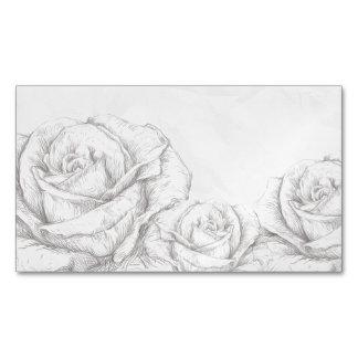 Decorativo gris floral de los rosas del vintage tarjetas de visita magnéticas