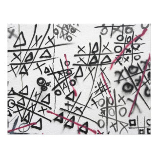 Dedo del pie de Tic Tac de la pintada Tarjetas Informativas