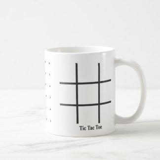 dedo del pie tic del tac del juego del punto taza de café