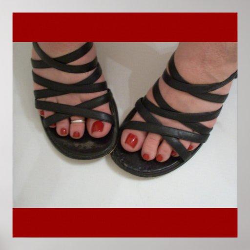 Dedos del pie bonitos póster