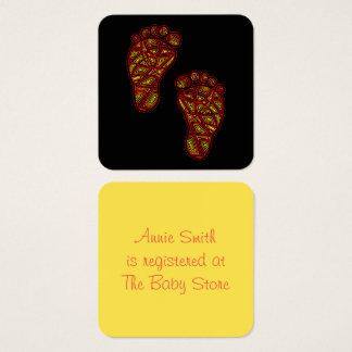 Dedos del pie tribales tarjeta de visita cuadrada
