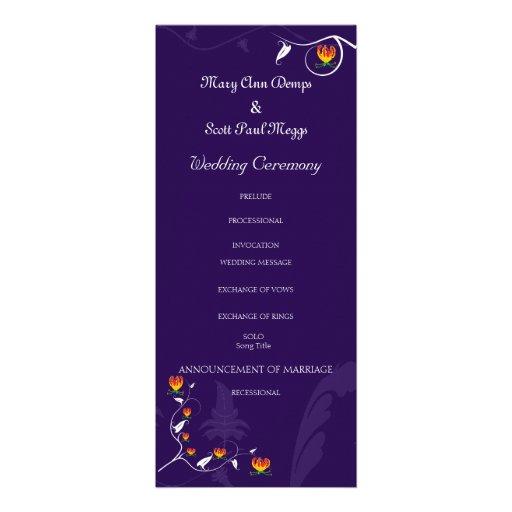 Deep Purple con el lirio vibrante del gloriosa Invitacion Personalizada