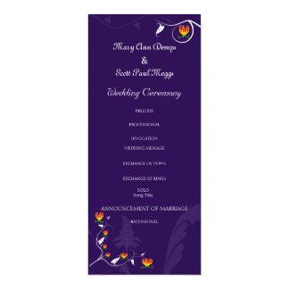 Deep Purple con el lirio vibrante del gloriosa Invitación 10,1 X 23,5 Cm