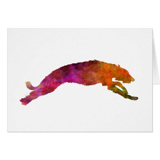 Deerhound 02 in watercolor-2 tarjeta de felicitación