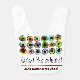 Defeat the colours! John Dalton. Baberos De Bebé