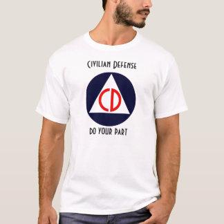 Defensa civil camiseta