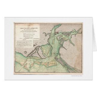Defensa del mapa 1778 del SC de Charleston Tarjeton