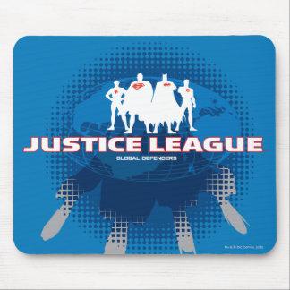 Defensores globales de la liga de justicia alfombrilla de ratón