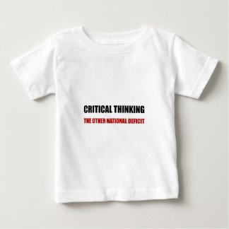 Déficit nacional de pensamiento crítico camiseta de bebé
