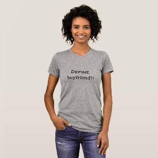 Defina al novio - camiseta de las señoras