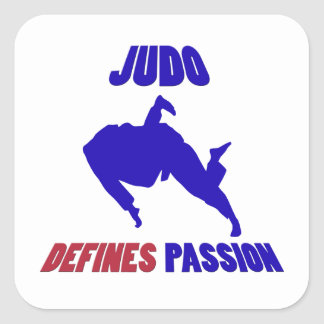 define judo calcomanía cuadradas