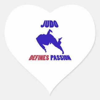 define judo pegatina en forma de corazón