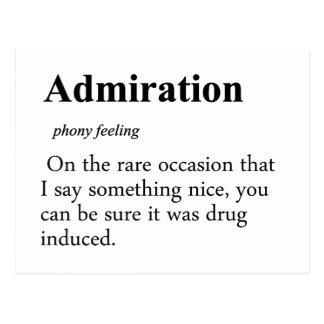 Definición de la admiración postal