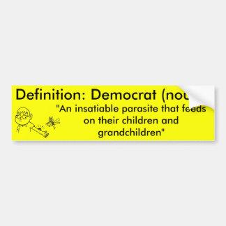 Definición de un Demócrata Pegatina Para Coche