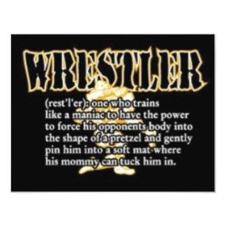 Definición de un luchador invitación 10,8 x 13,9 cm