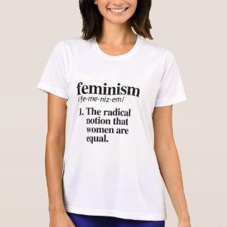 Definición del feminismo - la noción radical que camiseta