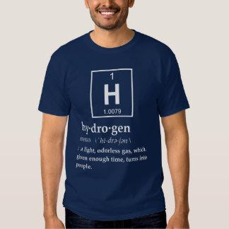 Definición del hidrógeno camisas