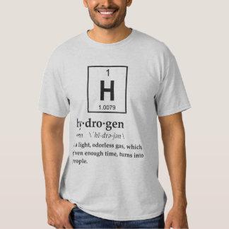 Definición del hidrógeno camisetas