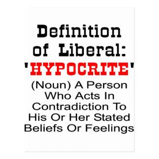 Definición del liberal = del hipócrita postal