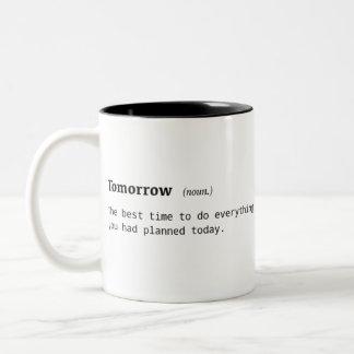 Definición divertida de la taza de café de la