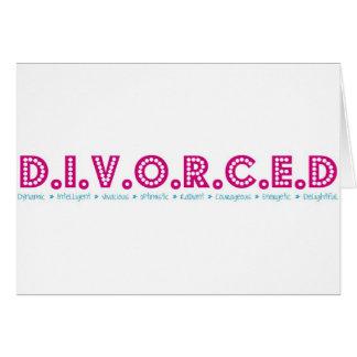 Definición femenina del divorcio tarjeta