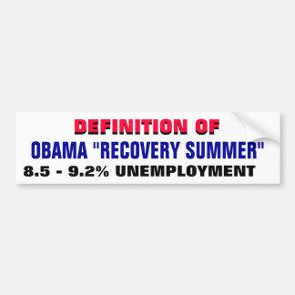 Definición: parados del verano un 9% de la recuper pegatina para coche