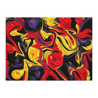 Deformación floral impresión en lienzo
