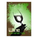 Degustación de vinos que empareja el ~ 5 x 7 invitación 12,7 x 17,8 cm