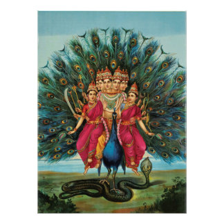 Deidad hindú de Murugan Kartikeyan Skanda Subrahma Fotografia