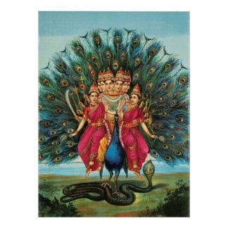 Deidad hindú de Murugan Kartikeyan Skanda Subrahma Fotos
