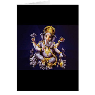 Deidad hindú del elefante asiático de Ganesh Tarjeta De Felicitación