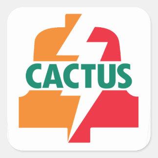 Deisgn del pegatina de Bell del cactus once por