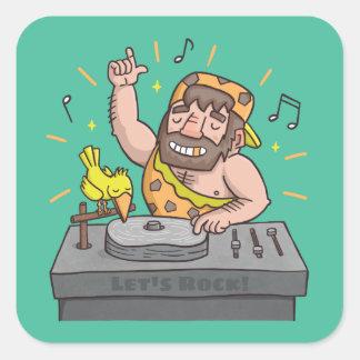 Deja al pegatina de DJ de la música del hombre de