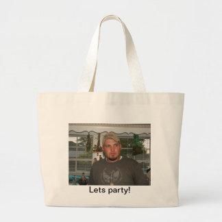 Deja el engranaje del fiesta bolsa lienzo