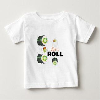 Deja el rollo camiseta de bebé