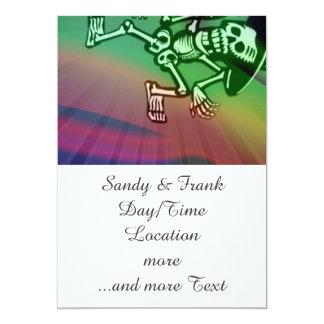 deja la danza colorida invitación 12,7 x 17,8 cm